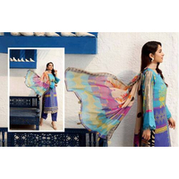 Blue C-Prints By Charizma Printed Lawn Suits Unstitched